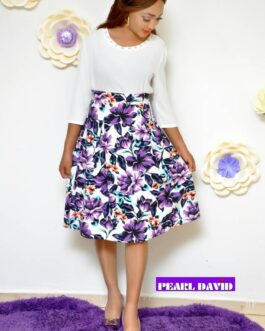 A Shaped Flowery Skirt