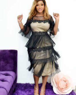 Layers Hem Laced Dress