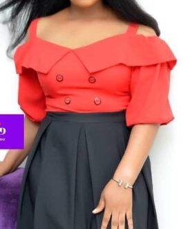 Classic Off Shoulder Pleated Styled