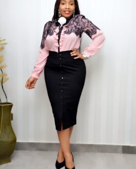Netty Detailed Long Sleeve With Broach