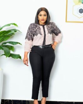 Netty detailed long sleeve top